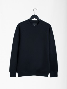 A2 basic raglan sweatshirt | black