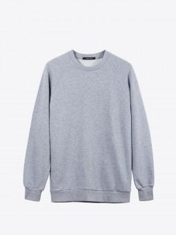 A2 basic raglan sweatshirt | grey melange