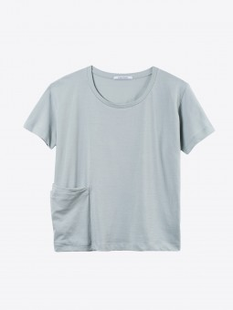A2 womens pick pocket shirt | mirage grey