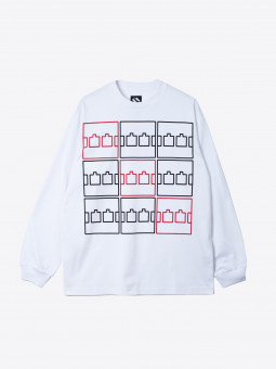 the trilogy tapes ttt multi logo longsleeve t-shirt
