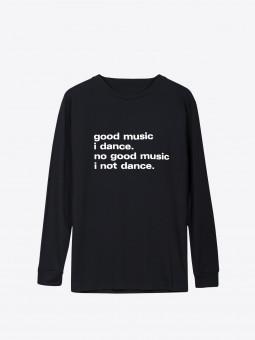 A2 good music i dance | black