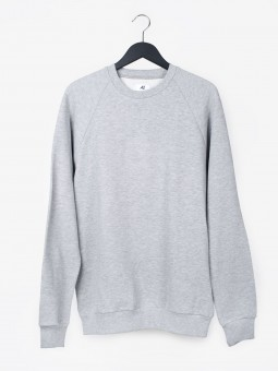 A2 basic raglan sweatshirt | grey melange