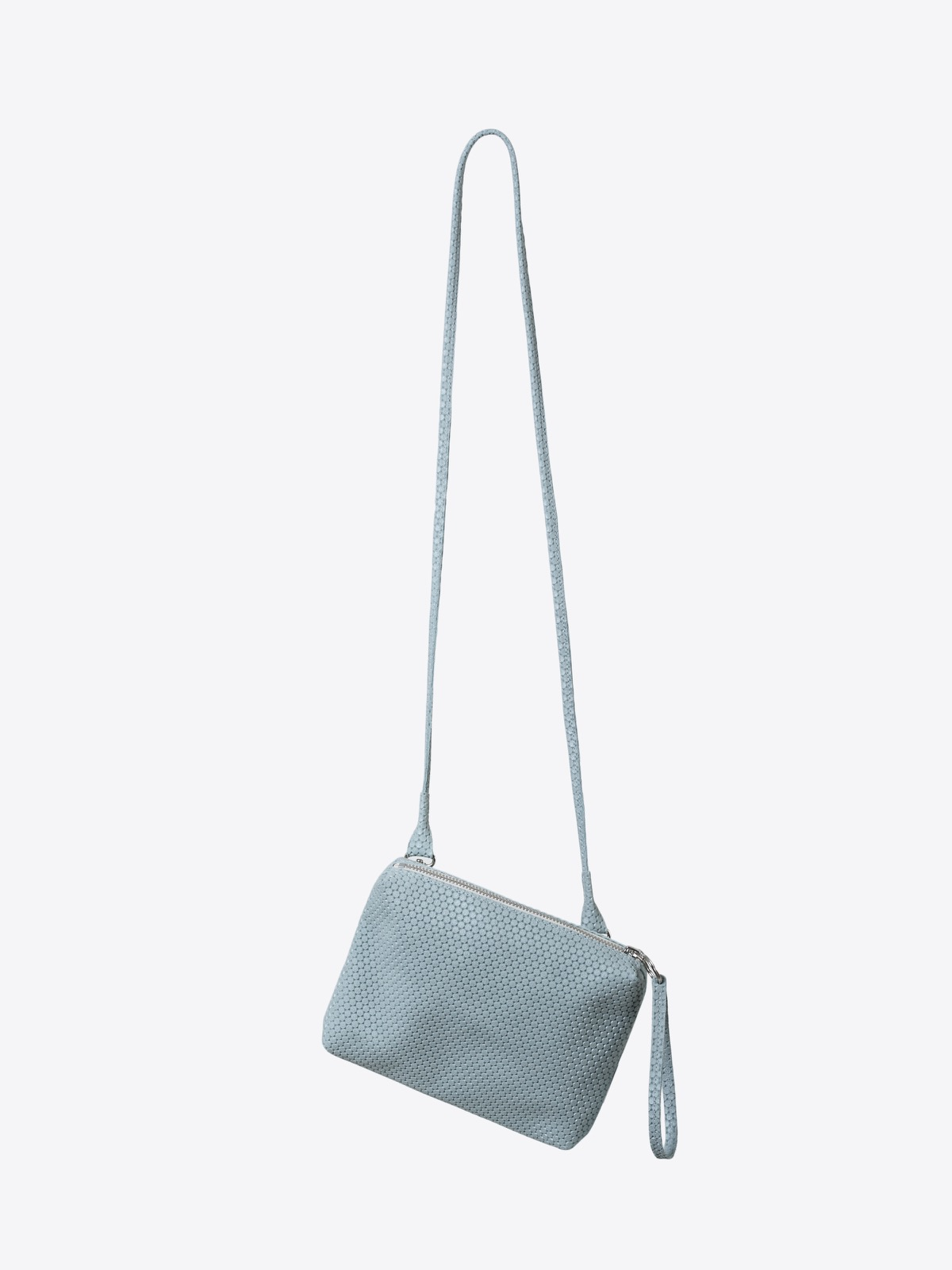 A2 mint grey structured leather