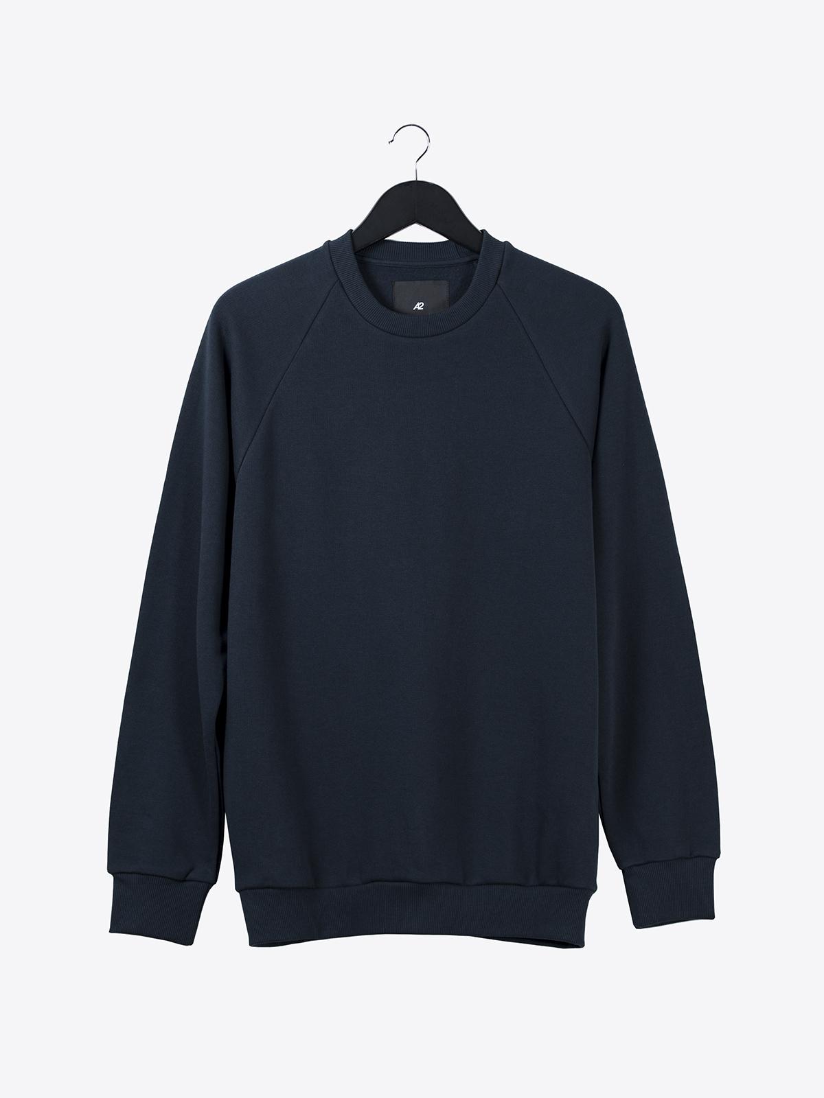 A2 basic raglan sweatshirt | dark navy