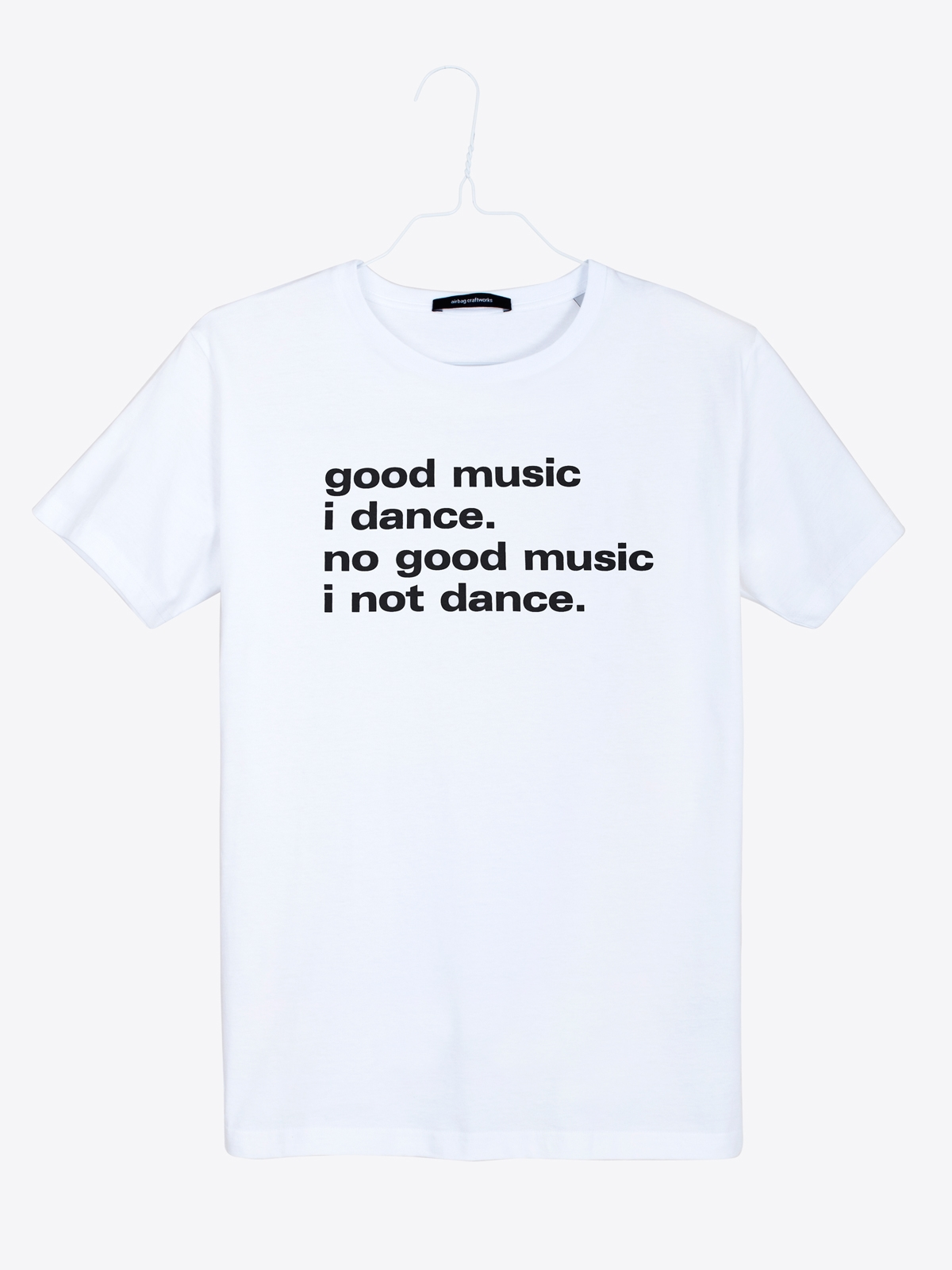 airbag craftworks good music i dance | white
