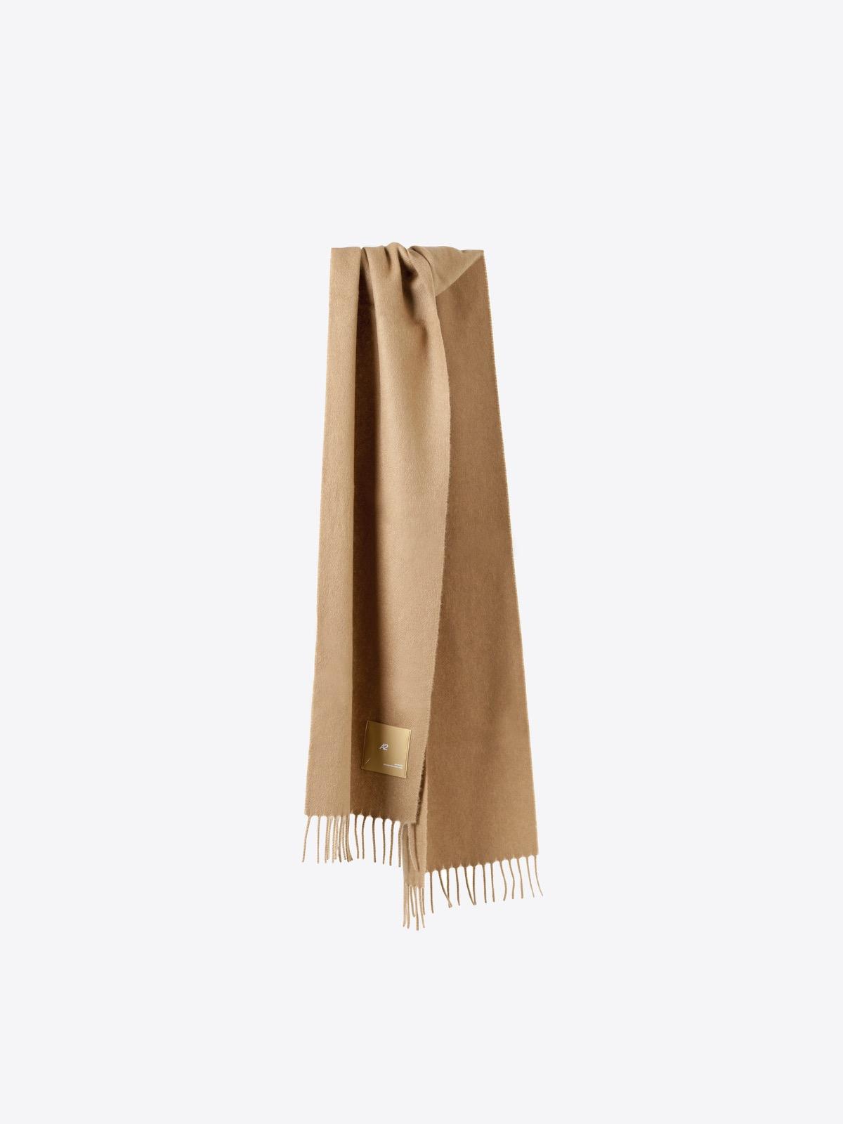airbag craftworks scott   camel cashmere scarf