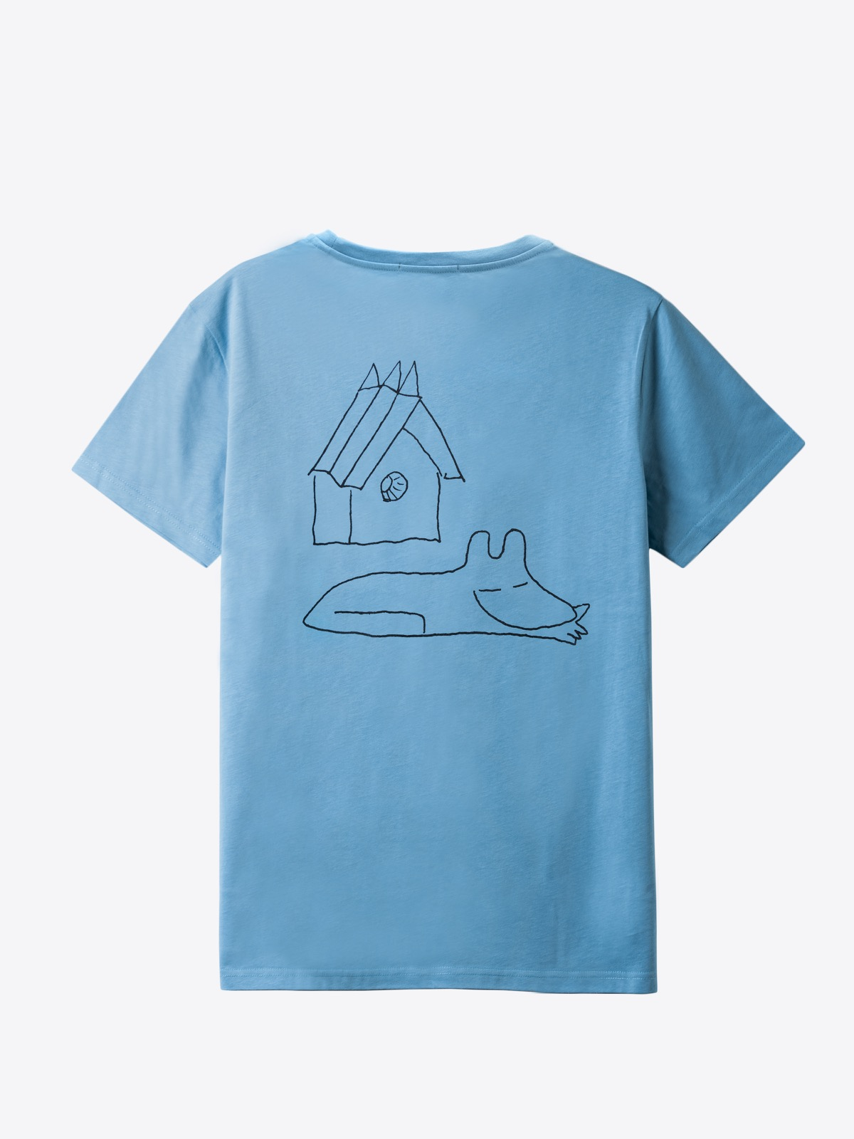 airbag craftworks house dog   back print   dolphin blue
